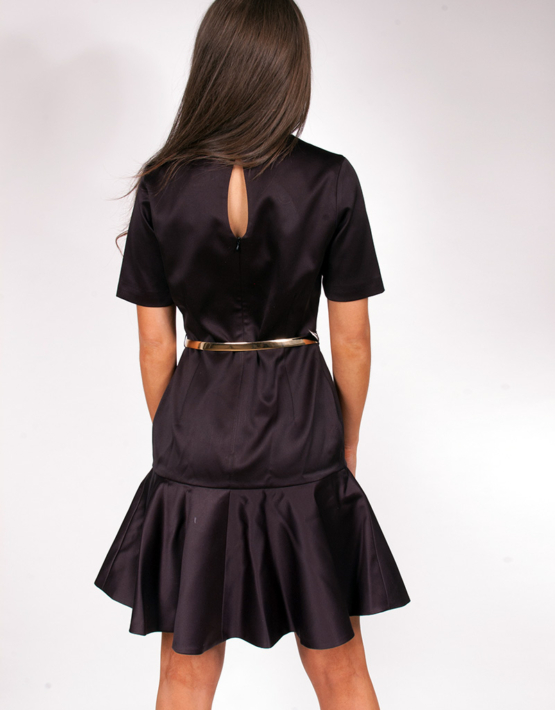 Pleat Neck Black