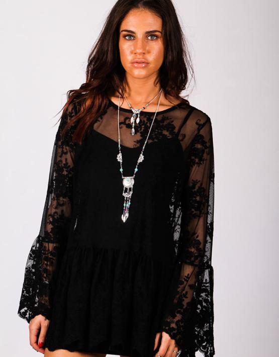Spellbound Dress Black