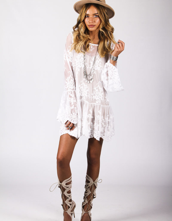 Spellbound Dress White