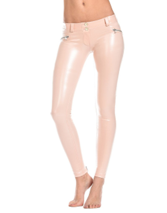 Pink Leather Freddy Pants worn by Katie Price